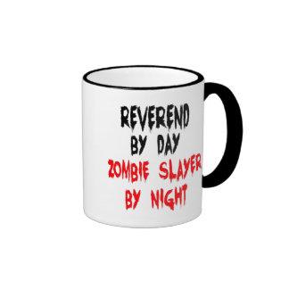 Reverend del asesino del zombi taza de dos colores