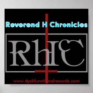 Reverend H Chronicles anti god Poster