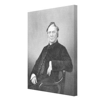 Reverend Hugh Stowell, engraved by D. J. Pound Canvas Print