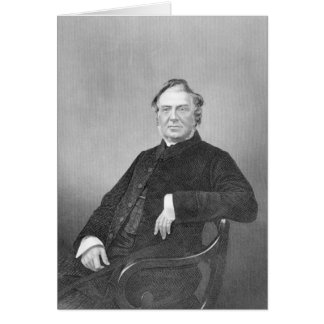 Reverend Hugh Stowell, engraved by D. J. Pound Card