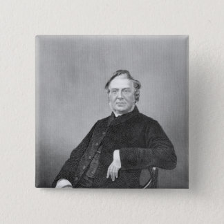 Reverend Hugh Stowell, engraved by D. J. Pound Pinback Button