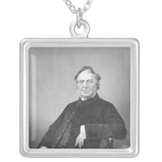 Reverend Hugh Stowell, engraved by D. J. Pound Square Pendant Necklace