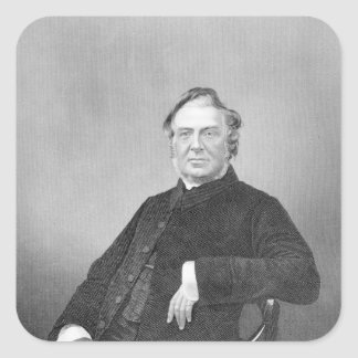 Reverend Hugh Stowell engraved by D J Pound Square Sticker