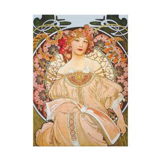 Reverie by Alphonse Mucha Canvas Print