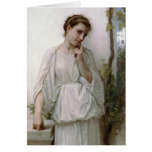 Reverie - William-Adolphe Bouguereau Greeting Card