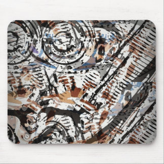 Reverse Abstract V-Twin Mouse Pad