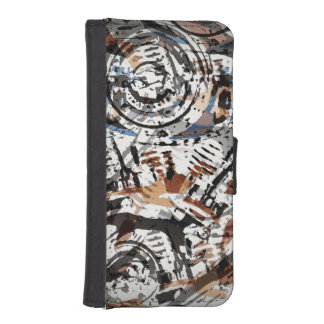 Reverse Abstract V-Twin Phone Wallet