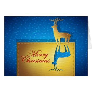Reverse Christmas Deer Card