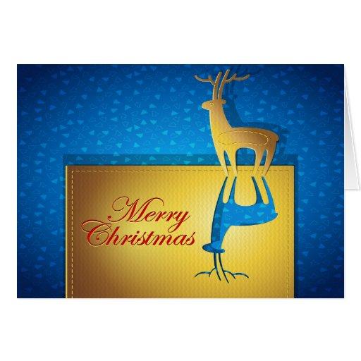 Reverse Christmas Deer Card