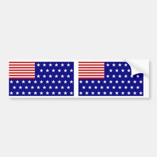 Reverse Color American Flag Bumper Sticker