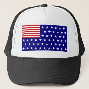 Reverse Color American Flag Trucker Hat c3a4b98cba6d