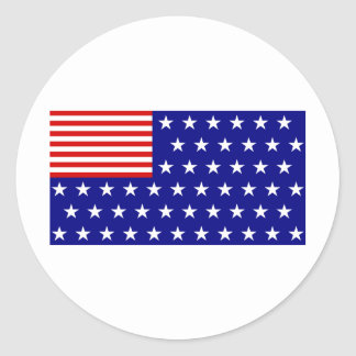 REVERSE FLAG ROUND STICKERS
