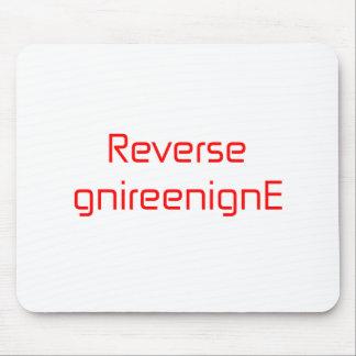 Reverse gnireenignE orange pink red Mouse Pad