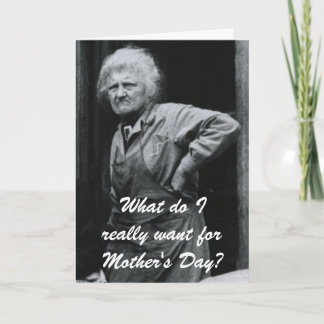 Reverse Jewish Mother's Day Card