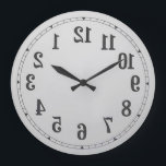 "Reverse Numbers Wall Clock<br><div class=""desc"">Reverse Numbers Wall Clock</div>"