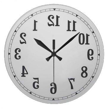 ImGEEE Reverse Numbers Wall Clock