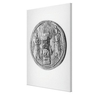 Reverse of a coin of Shapur II Canvas Print
