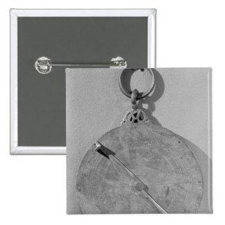 Reverse of a Moorish astrolabe, from Cordoba Pinback Button