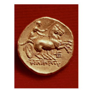 Reverse of a stater of Philip II  of Macedonia Postcard