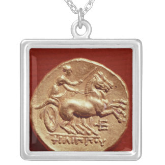 Reverse of a stater of Philip II  of Macedonia Silver Plated Necklace