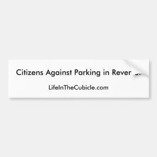 Reverse Parking Bumper Sticker