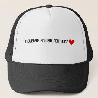 Reverse Polish Notation - Red Heart Trucker Hat