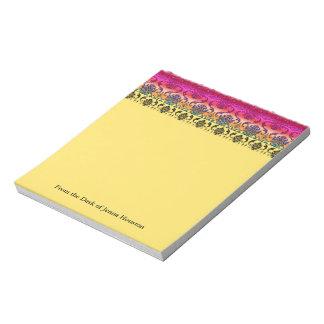 REVERSE RAINBOW FADE: Fuchsia, Red, Orange, Yellow Notepad