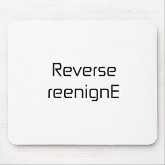 Reverse reenignE black blue gray white Mouse Pad