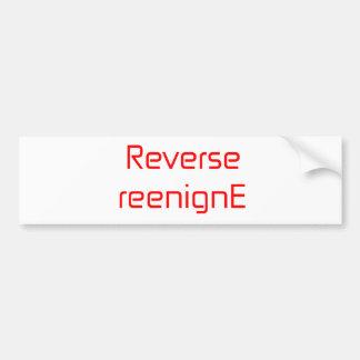 Reverse reenignE orange pink red Bumper Sticker
