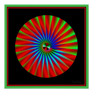 Reverse Rotation Effect Illusion Poster