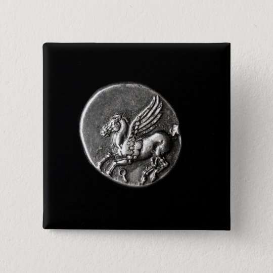 Reverse side of  coin depicting Pegasus Button