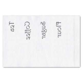 Reverse Tea Coffee Flour Sugar Tissue Paper