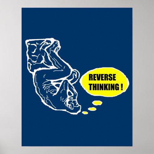 Reverse thinking print