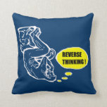Reverse thinking throw pillow
