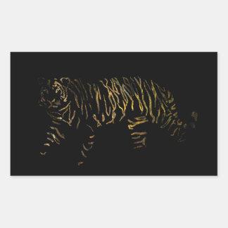 Reverse Tiger Rectangular Sticker