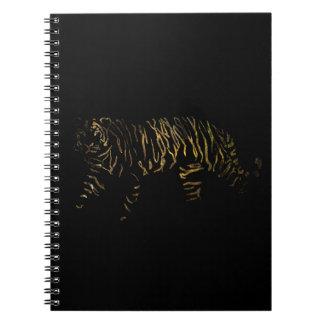 Reverse Tiger Spiral Notebook