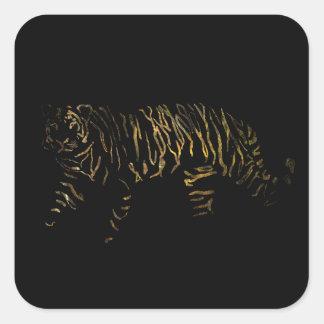 Reverse Tiger Square Sticker