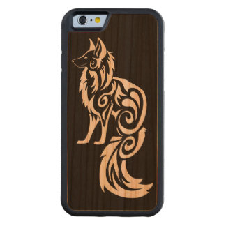Reverse Tribal Kitsune Fox Carved® Cherry iPhone 6 Bumper