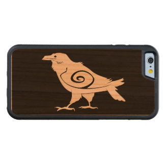 Reverse Tribal Raven Carved Cherry iPhone 6 Bumper Case