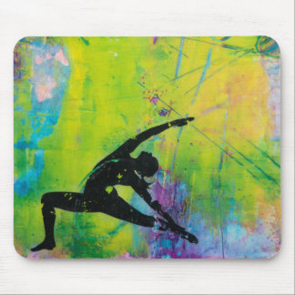 Reverse Warrior Yoga Girl Mousepad