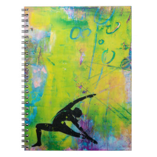 Reverse Warrior Yoga Girl Photo Notebook