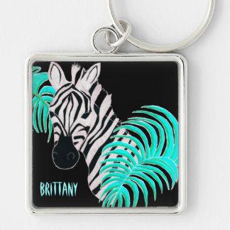 Reverse Zebra - Inverted Keychain