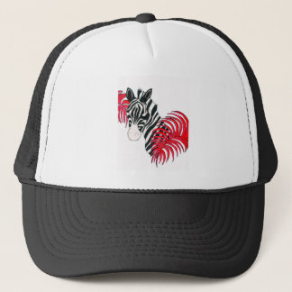 Reverse Zebra Trucker Hat