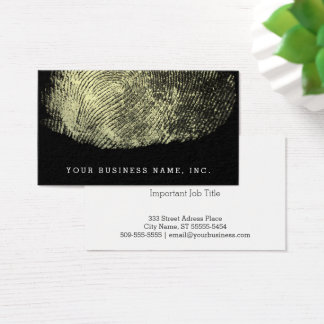 Reversed Loop Fingerprint Business Card