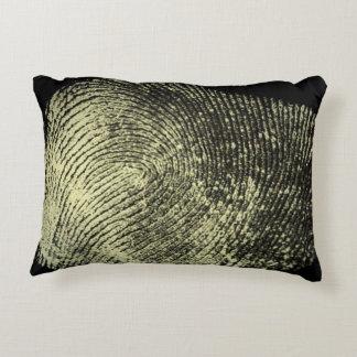 Reversed Loop Fingerprint Decorative Pillow