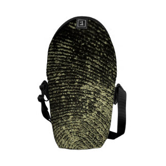 Reversed Loop Fingerprint Messenger Bag