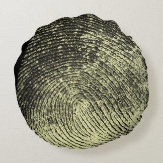 Reversed Loop Fingerprint Round Pillow