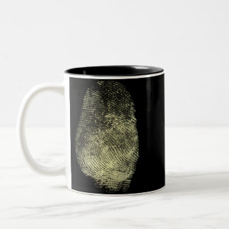 Reversed Loop Fingerprint Two-Tone Coffee Mug