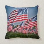 Reversible American Flag Throw Pillows