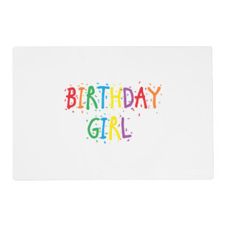 Reversible Birthday Girl/Special Day Placemat